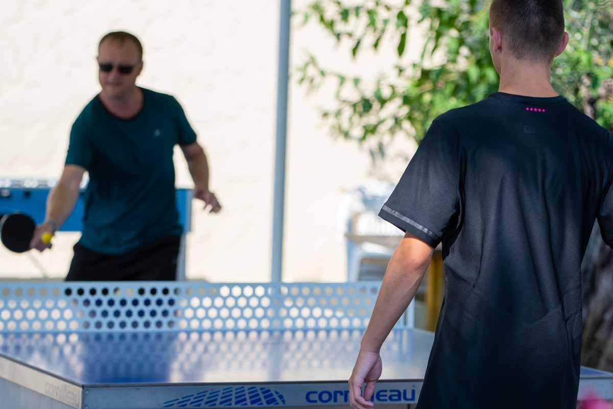 Ping-pong au camping la Vieille Ferme